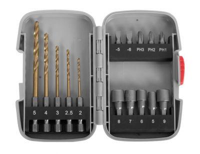 ЗУБР МАСТЕР набор насадок для шуруповерта (15 шт.)Ручной инструмент<br><br>