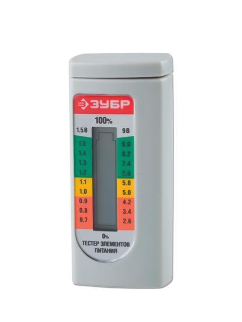 ЗУБР МАСТЕР тестер уровня заряда батареекРучной инструмент<br><br>