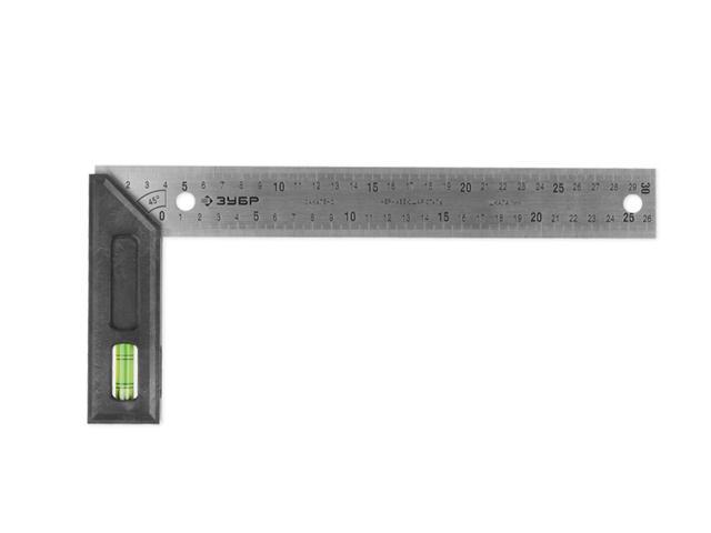ЗУБР ЭКСПЕРТ угольник разметочный с уровнемРучной инструмент<br><br>